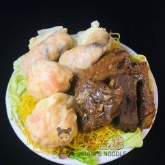 Wonton, Dumpling, & Beef Stew Lo Mein
